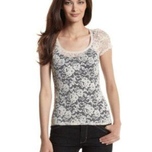 NWT WHBM LACE TOP WHITE HOUSE BLACK MARKET BLOUSE